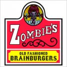 "Wendy's ""Zombie"" Printed Vinyl Decal / Sticker"