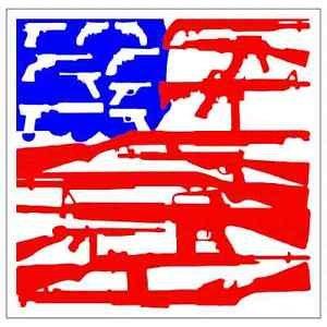 2nd Amendment Gun Flag Printed Vinyl Decal / Sticker