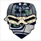 Seattle Seahawks Bandanna Vinyl Decal / Sticker