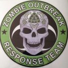 Zombie Outbreak Response Team Skull Vinyl Decal / Sticker