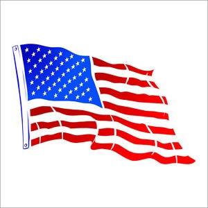 USA America Flying Flag Decal Sticker