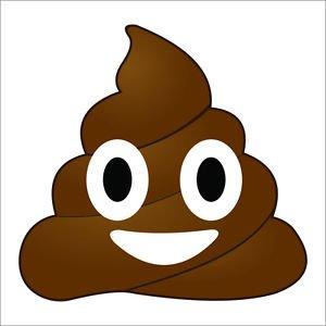 Poop Emoji Vinyl Decal / Sticker
