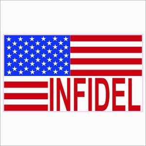 USA Infidel Flag Printed Vinyl Decal / Sticker