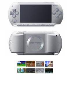 Sony Playstation Portable Silver Bundle with 40+ Games