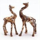 PATCHWORK GIRAFFE PAIR-SAFARI