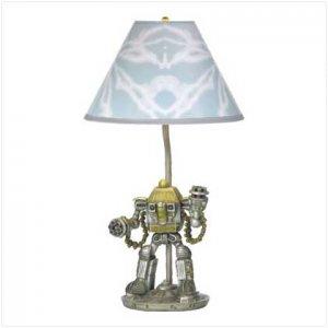 ROBOT LAMP - POLYRESIN
