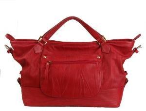 Alexandra Jordan Red Leather Handbag