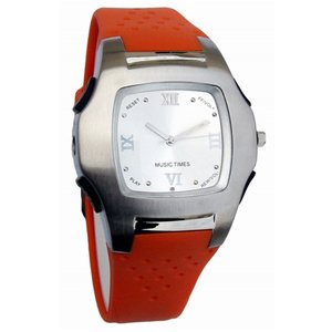 Watch Mp3 Player red/2G MW-138