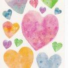 Maxi Vellum Hearts Stickers