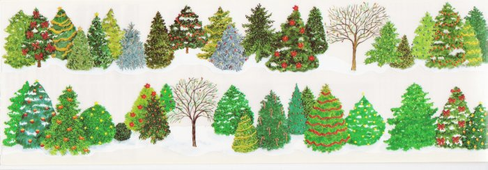 Trees with Lights Stickers