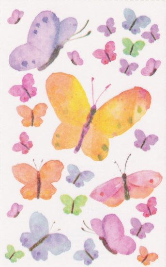 Vellum Butterfly Stickers