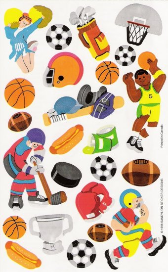 Sports Overload Stickers
