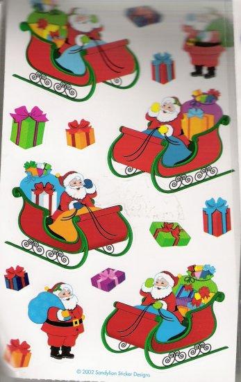 Santa with a sleigh