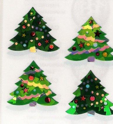 Glittery Christmas Trees