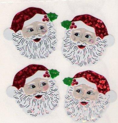Glittery Santa Heads
