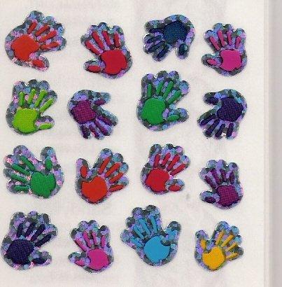 Mini Glittery Hands