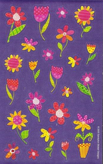 Maxi Purple Flowers