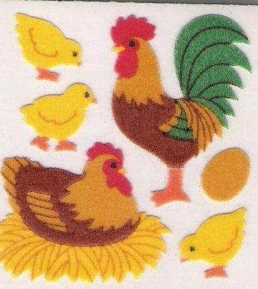 Fuzzy Turkey and Chicks