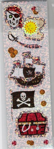 Long Pirate Stickers
