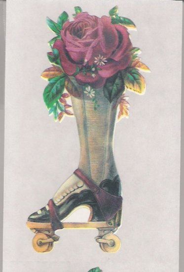 Shoe with Red Rose