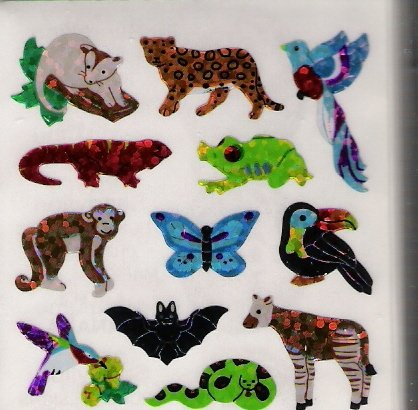 Mini Pearly Jungle Animals