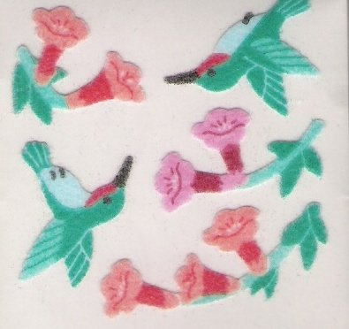 Fuzzy Hummingbirds and Flowers