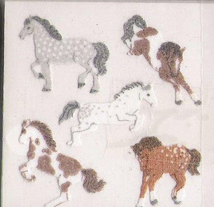 White Fuzzy Horses