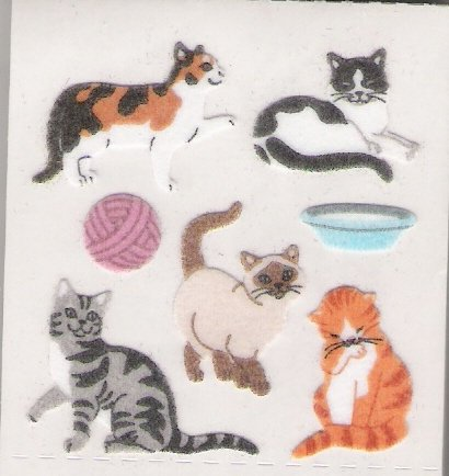 Fuzzy Cats with Yarn and Milk
