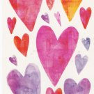 Red and Purple Vellum Hearts