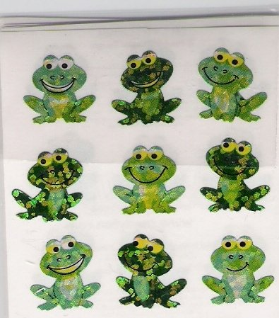 Sitting Smiling Frogs