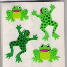 Flat Leaping Green Frogs