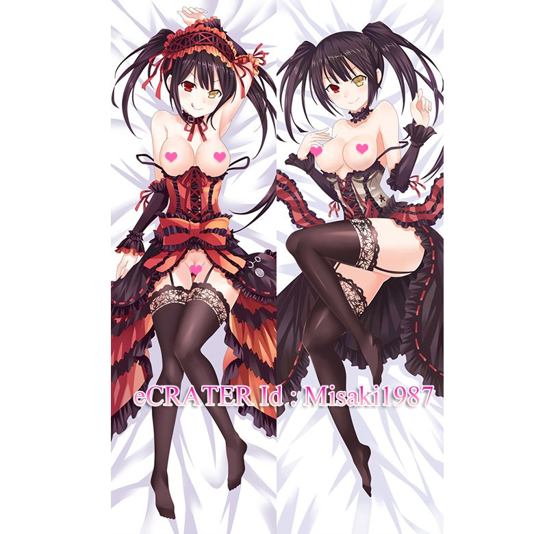 Date A Live Dakimakura Kurumi Tokisaki Anime Girl Hugging Body Pillow Case Cover