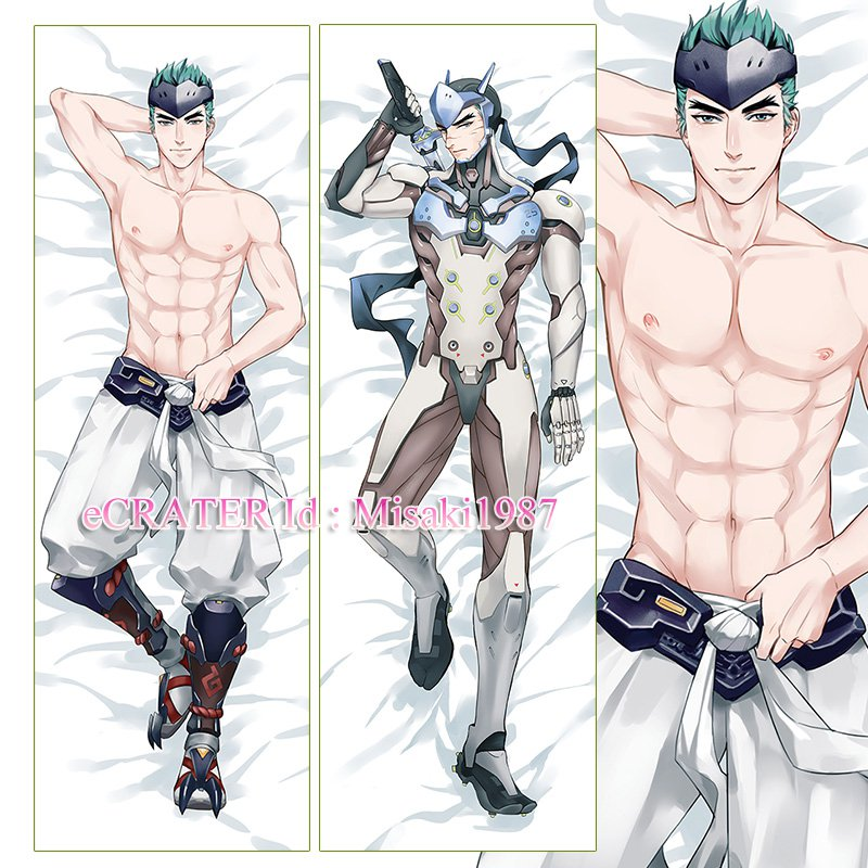 Overwatch OW Dakimakura Genji Anime Hugging Body Pillow Case Cover