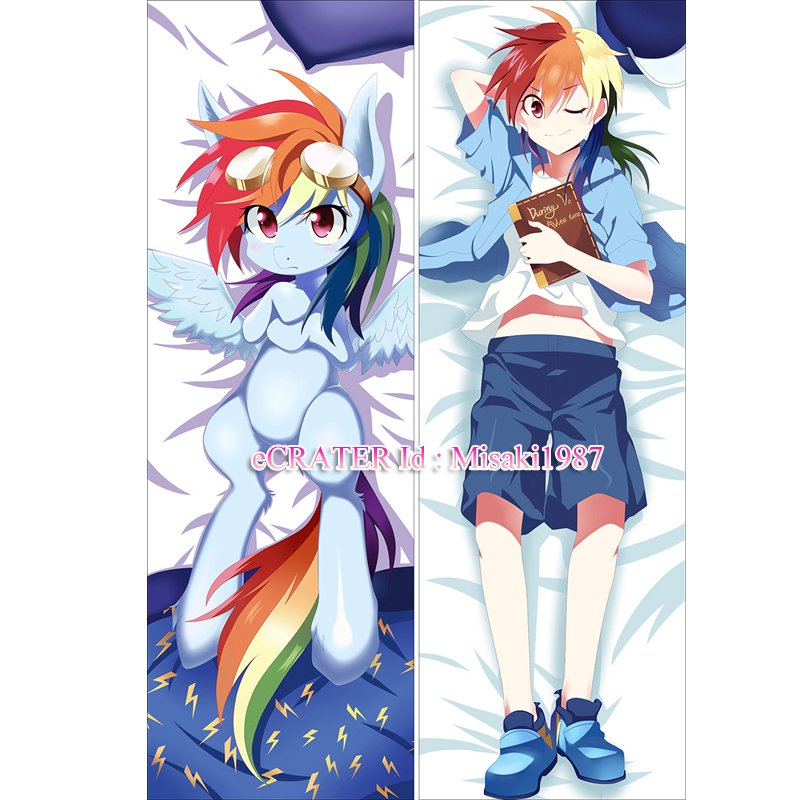 My Little Pony Dakimakura Rainbow Dash Anime Hugging Body Pillow Case Cover