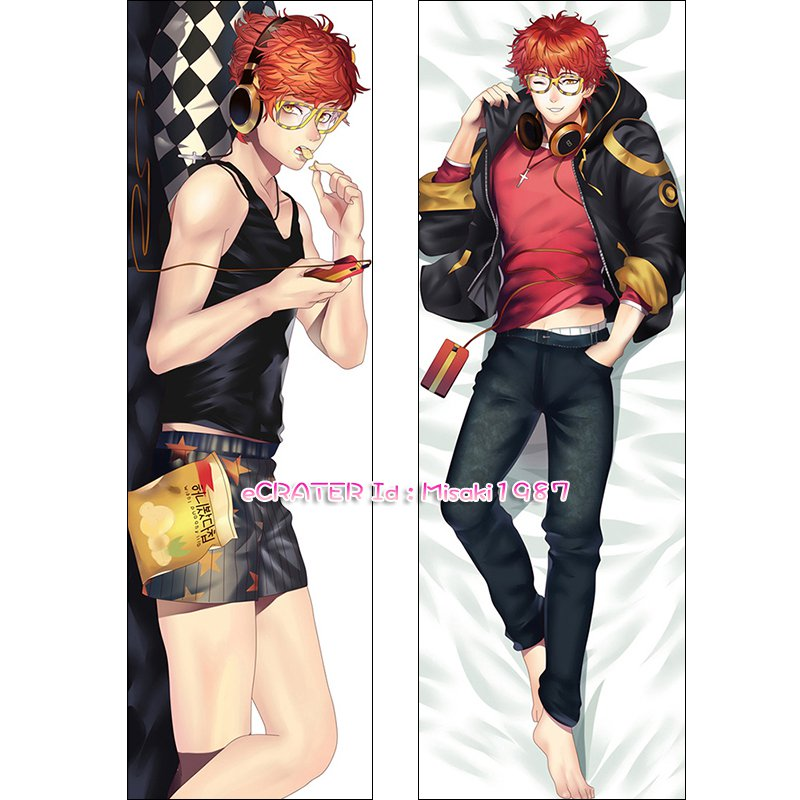 Mystic Messenger Dakimakura 707 Luciel Choi Anime Hugging Body Pillow Case Cover 04
