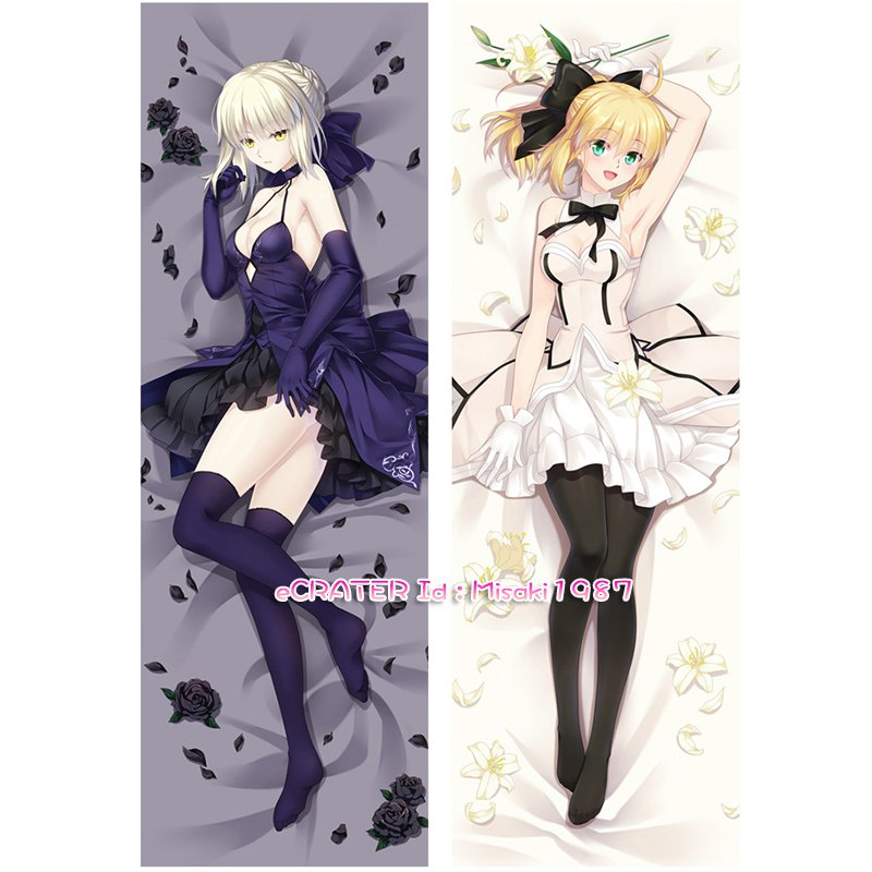 Fate Stay Night Fate Zero Dakimakura Saber Anime Girl Hugging Body Pillow Case Cover