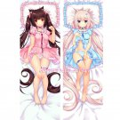 Neko Para Dakimakura Chocola Vanilla Anime Girl Hugging Body Pillow Case Cover