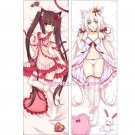 Neko Para Dakimakura Chocola Vanilla Anime Girl Hugging Body Pillow Case Cover 3