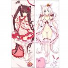 Neko Para Dakimakura Chocola Vanilla Anime Girl Hugging Body Pillow Case Cover 4