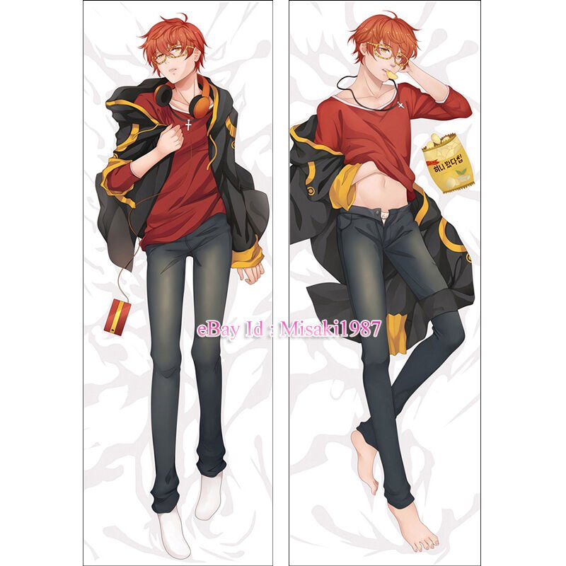 Mystic Messenger Dakimakura 707 Luciel Choi Anime Hugging Body Pillow Cover Case