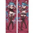 Vocaloid Dakimakura Black Hatsune Miku Anime Girl Hugging Body Pillow Case Cover