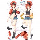 Cells at Work! Erythrocyte Red Blood Cell Anime Girl Dakimakura Body Pillow Case