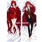Black Butler Kuroshitsuji Dakimakura Grell Sutcliff Anime Body Pillow Case Cover