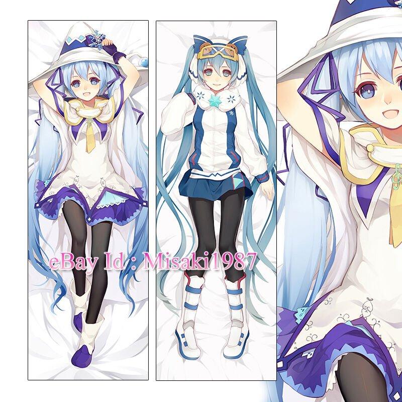 Vocaloid Dakimakura Snow Hatsune Miku Anime Girl Hugging Body Pillow Case Covers