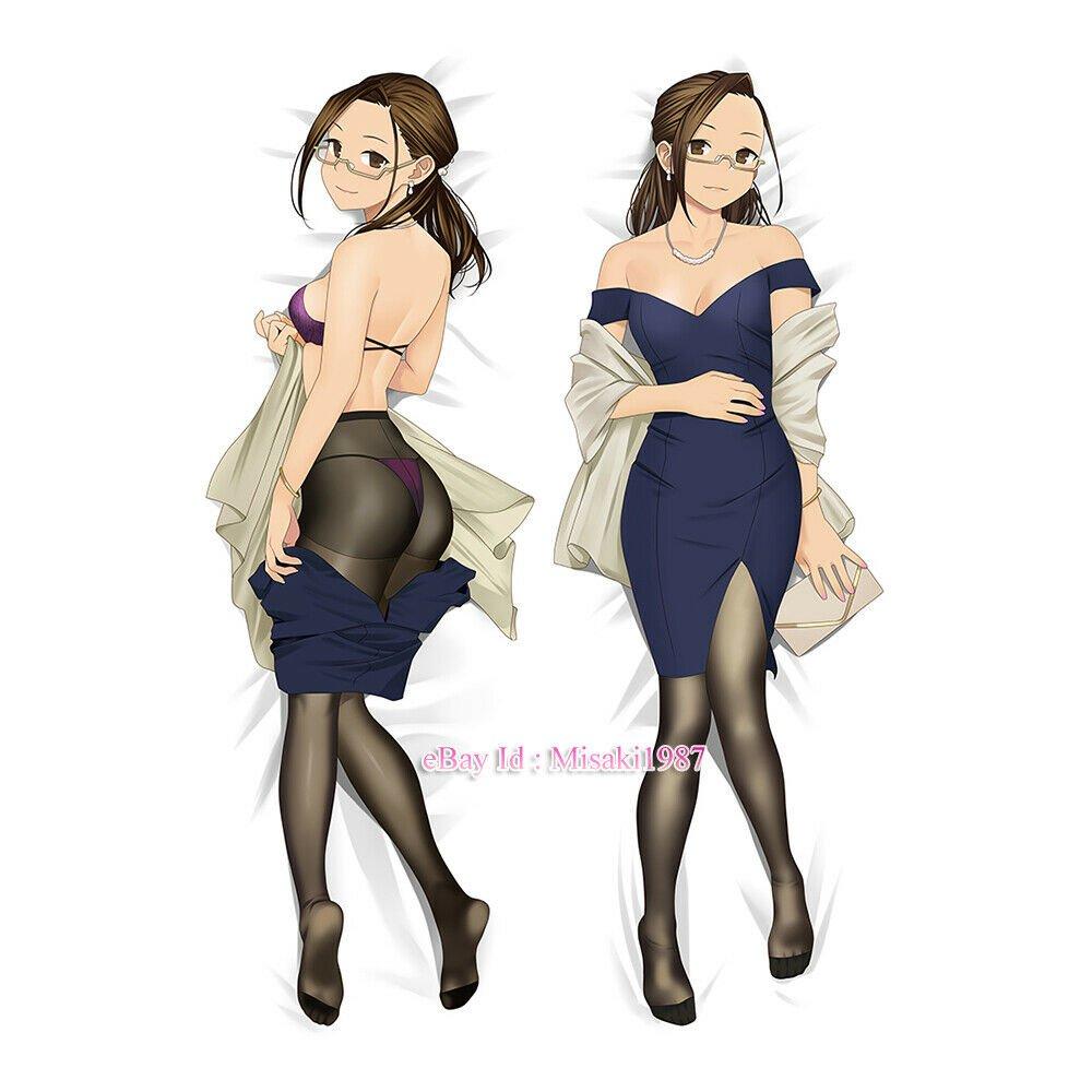 Miru Tights Okuzumi Yuiko Anime Girl Dakimakura Hugging Body Pillow Case Cover