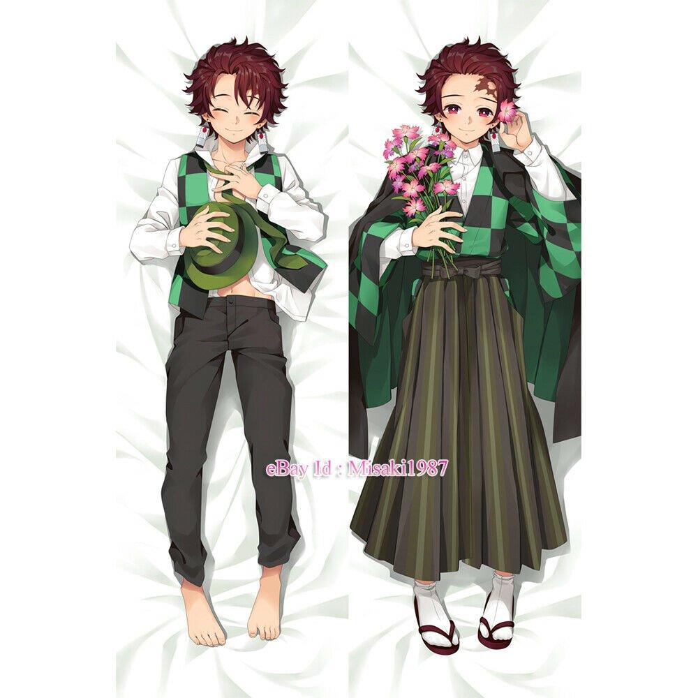 Demon Slayer Kamado Tanjirou Dakimakura Anime Hugging Body Pillow Cases Covers 2
