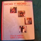 "BEGINNING SPANISH textbook - like new ""Dicho Y Hecho"""