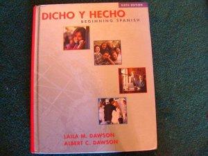 "BEGINNING SPANISH textbook - like new ""Dicho Y Hecho"""