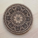 Greek design laser engraved cork coasters - set of 4