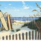 Beach Access Surfboards Ocean Scott Westmoreland Art Print